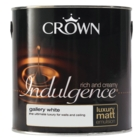 CROWN RETAIL INDULGENCE EMULSION GALLERY WHITE 2.5LTS