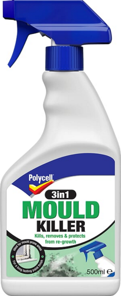 POLYCELL 3 in 1 MOULD KILLER 500ml SPRAY
