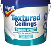 POLYCELL TEXTURED CEILINGS COARSE FINISH 5LITRES