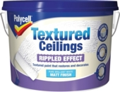 POLYCELL TEXTURED CEILINGS MATT RIPPLE FINISH 2.5LTS