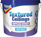 POLYCELL TEXTURED CEILINGS MATT RIPPLED FINISH 5LITRE