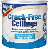 POLYCELL CRACK-FREE CEILINGS SMOOTH MATT 2.5LITRE
