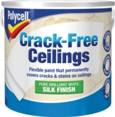 POLYCELL CRACK FREE CEILINGS SMOOTH SILK 2.5LITRE