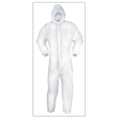 RODO FIT FOR THE JOB  DISPOSAB HOODED  BOILER SUIT X-LARGE