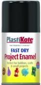 PLASTI-KOTE FAST DRY ENAMEL GLOSS BLACK (101-S) 100MLS
