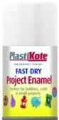 PLASTI-KOTE FAST DRY ENAMEL GLOSS WHITE (102-S) 100MLS