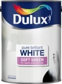 DULUX RETAIL VINYL SOFT SHEEN PURE BRILLIANT WHITE 5LITRE