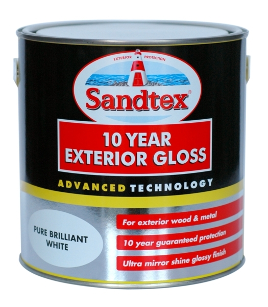 SANDTEX 10 YEAR EXTERIOR GLOSS BRILLIANT WHITE 750MLS