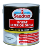 SANDTEX 10 YEAR EXTERIOR GLOSS BRILLIANT WHITE 750MLS