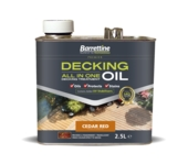 BARRETTINE ALL IN ONE DECKING OIL CEDAR RED 2.5LITRE