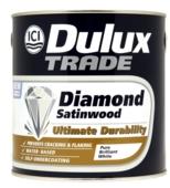 DULUX TRADE DIAMOND SATINWOOD BRILLIANT WHITE 2.5LT