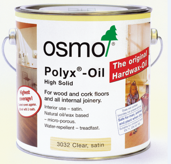 OSMO POLYX-OIL CLEAR 3032 SATIN 2.5LITRE