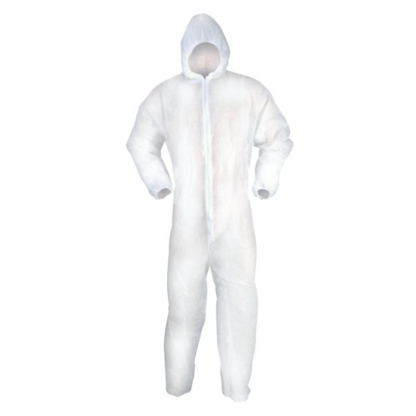 e875bc92f10 RODO FIT FOR THE JOB DISPOSABL HOODED BOILER SUIT LARGE ...