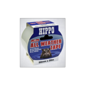 HIPPO ALL WEATHER TAPE CLEAR 50mm x 20m