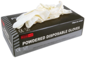 RODO BLACKROCK POWDERED LATEX GLOVES (100)