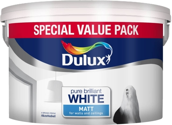 DULUX RETAIL MATT BRILLIANT WHITE 7LITRE