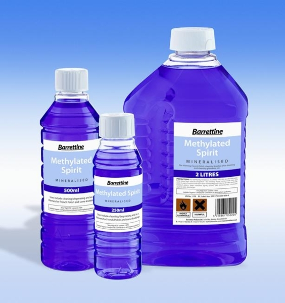 BARRETTINE METHYLATED SPIRIT 250ML (12) CARTON
