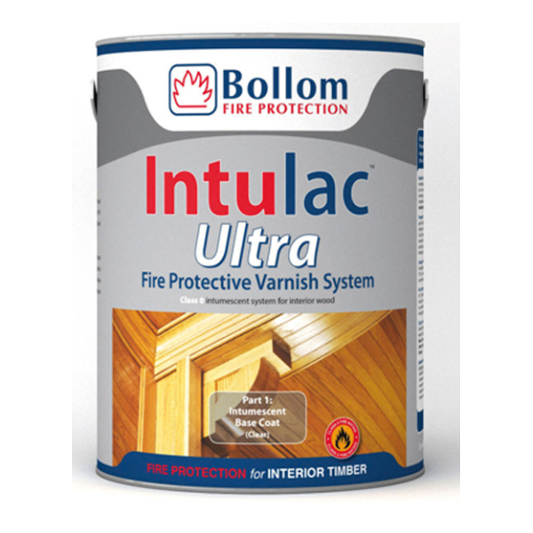 BOLLOM INTULAC ULTRA CLEAR INTUMESCENT BASECOAT 4.8LITRE