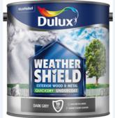 DULUX RETAIL WEATHERSHIELD UNDERCOAT DARK GREY 2.5LITRE