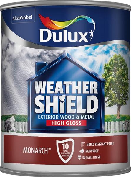 DULUX RETAIL WEATHERSHIELD HIGH GLOSS MONARCH 750MLS