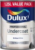 DULUX RETAIL UNDERCOAT BRILLIANT WHITE 1.25LITRE