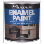 BLACKFRIAR GLOSS ENAMEL PAINT BLACK 125MLS