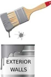 Paint for exterior walls