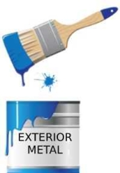 Paint for exterior metal