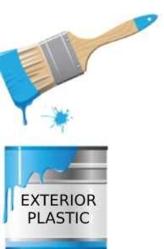 Paint for exterior plastic
