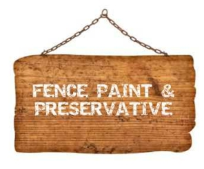 Fence paint & preservative