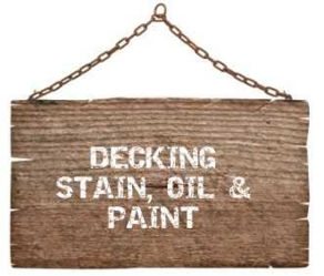 Decking stain, oil & paint