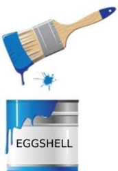 Eggshell finish