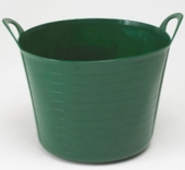 HARRIS ROUND TUBBIE MEDIUM FLEXIBLE TUB 25L DARK GREEN