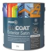 ZINSSER ALLCOAT EXTERIOR SATIN SOLVENT BLACK  2.5LITRE