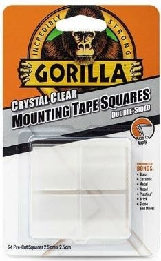 GORILLA MOUNTING TAPE SQUARES CLEAR