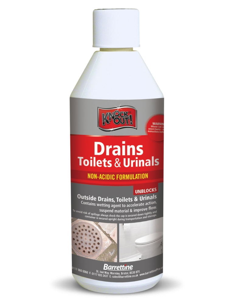 KNOCK OUT DRAINS, TOILETS & URINALS CLEANER LITRE