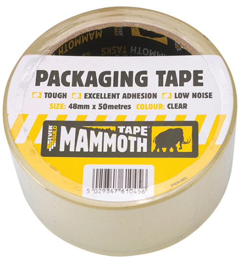 MAMMOTH LABELLED PACKING TAPE 48MM  x 50MTR