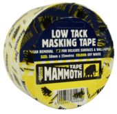 MAMMOTH LOW TACK MASKING TAPE 25mm x 25m
