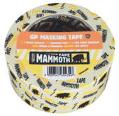 MAMMOTH LABELLED 50MTR MASK TAPE 25MM  x 50MTR