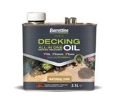 BARRETTINE ALL IN ONE DECKING OIL NATURAL OAK 2.5LITRE