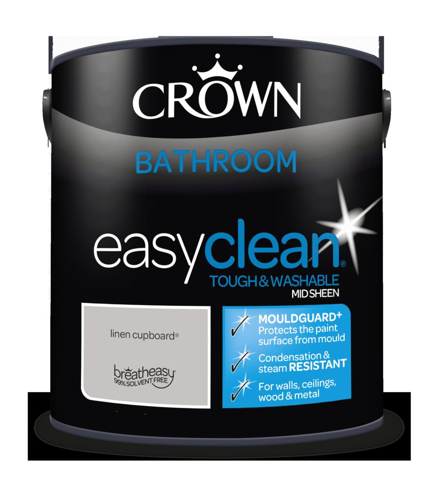CROWN EASYCLEAN BATHROOM LINEN CUPBOARD SHEEN 2.5L