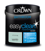 CROWN EASYCLEAN BATHROOM SOFT DUCK EGG SHEEN 2.5L