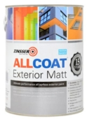 ZINSSER ALLCOAT EXTERIOR WATERBASED MATT BLACK LITRE
